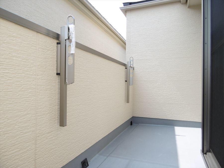 3階バルコニーです。バルコニーが2階と合わせて2ヶ所あるので、洗濯物の干場を広く確保できます!