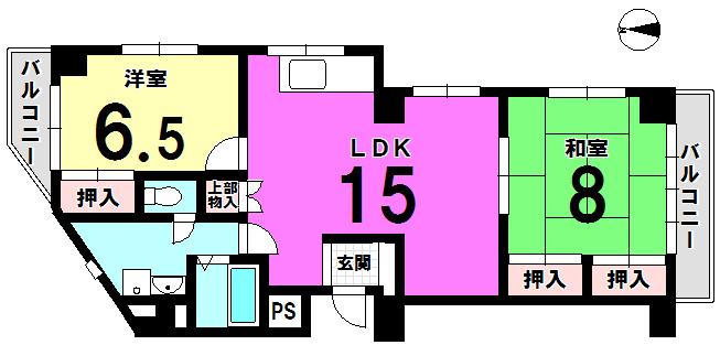 【間取り】 江戸川区 西小岩1丁目コモンシティ小岩の中古マンションです。