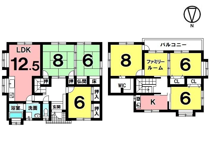 【間取り】 7LDK+WIC 駐車4台 オール電化 平成27年7月リフォーム済(外装塗装)