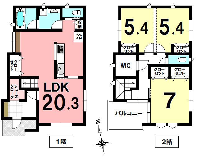 【間取り】 ◆ペットと楽しく暮らすお家をコンセプトにした新築住戸です。 全棟南向き(A号棟・B号棟)