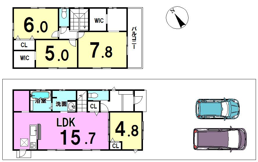 【間取り】 4LDK 167.39平米(50.63坪)
