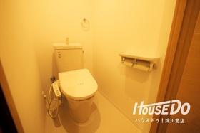 嬉しいウォシュレット機能付きトイレ♪