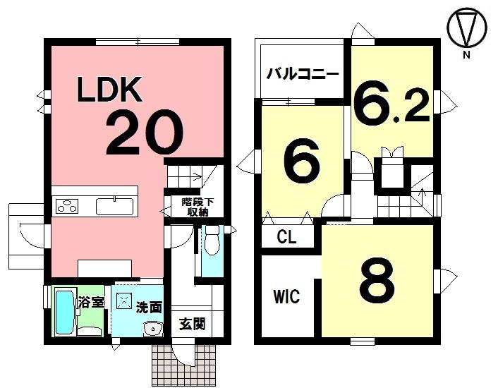 【間取り】 3LDK+WIC 駐車3台 全居室収納 制震構造・免震構造・耐震構造
