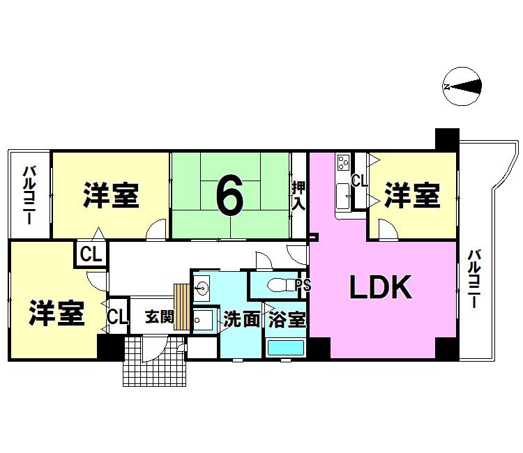 【間取り】 アーバンコーポ八幡304号室
