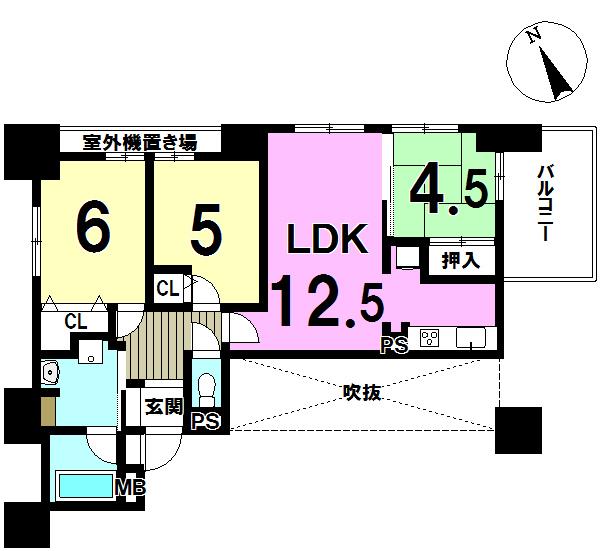 【間取り】 ☆4階角部屋401号室☆ 3LDK、全居室収納あり♪ 新規リフォーム済が嬉しい!住みたいときにすぐ住めますね。