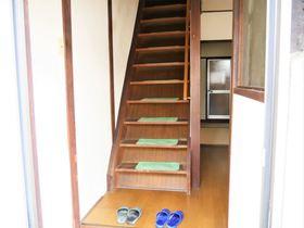 1階玄関から見た階段です 手すり付なので安心して登り降りができます☆