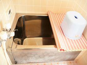 お風呂 淡いピンクが可愛いお風呂です 1日の疲れをゆっくり癒してください。