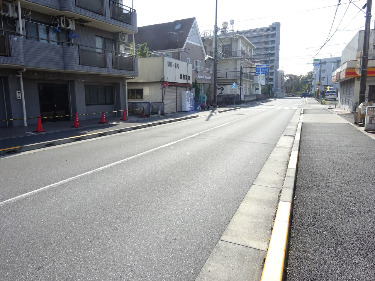 広い前面道路