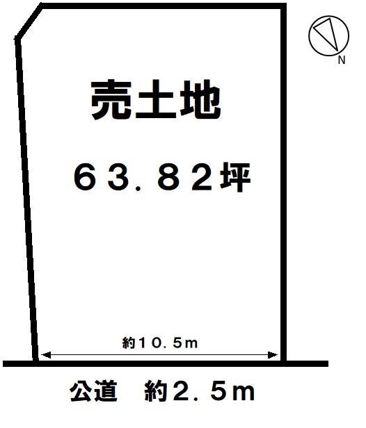 【区画図】 野間小学校まで徒歩2分(約100m) 大通りから1本入っているので静かです。