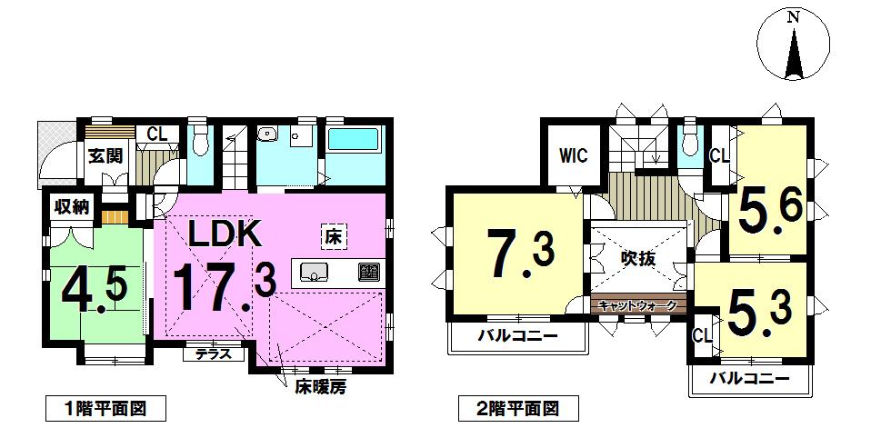 【間取り】 どの部屋をどう使おう、インテリアはどうしよう、想像するだけでわくわくしちゃいますね。 LDKが広く窓も多いので開放的。 使い勝手の良い間取りです。 オシャレなデザイナーズ物件。