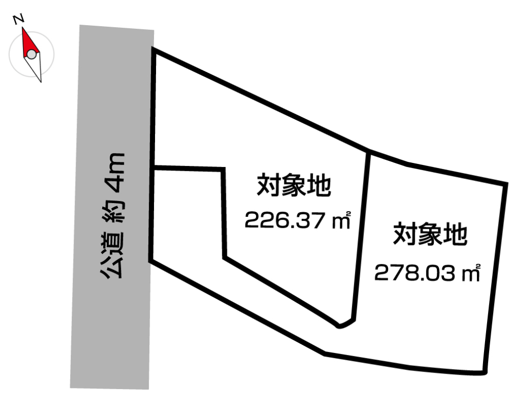 【区画図】 小倉南区葛原3丁目♪売土地♪JR安部山公園駅まで徒歩14分♪