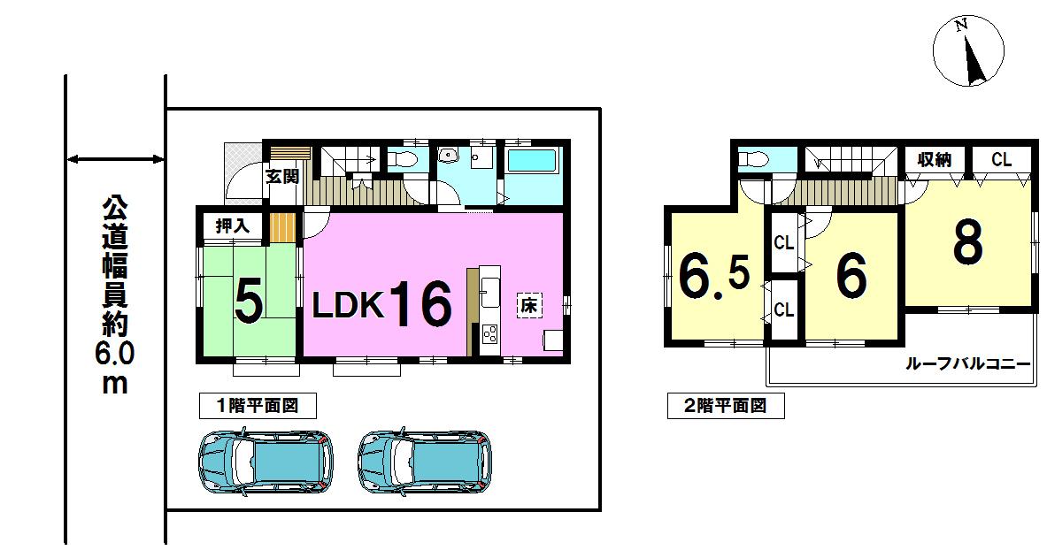 【間取り】 どの部屋をどう使おう、インテリアはどうしよう、想像するだけでわくわくしちゃいますね。 LDKが広く窓も多いので開放的。 使い勝手の良い間取りです。 収納が多いところも魅力的です。