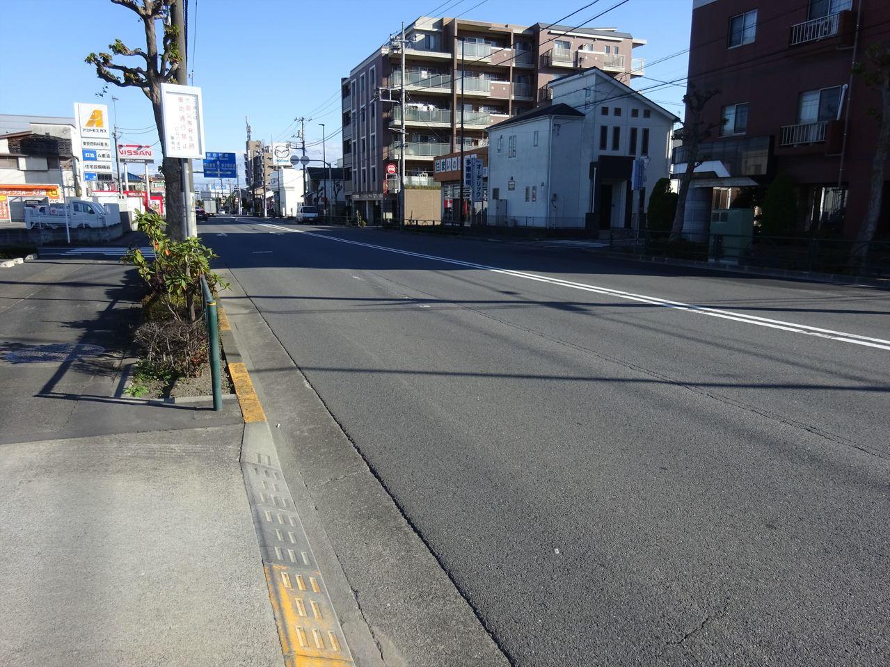 前面道路は広くて整備されています