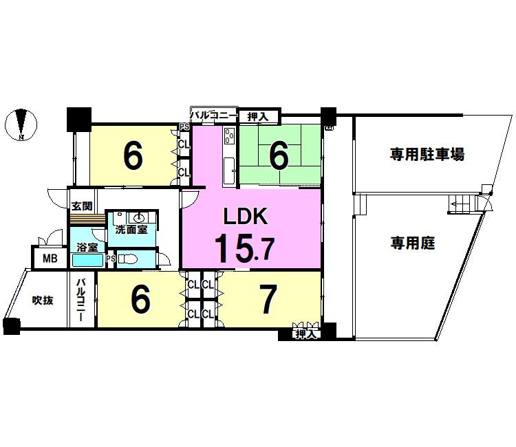 【間取り】 サンライフ足立公園106号室