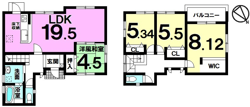 【間取り】 小さなお子様も無理なく通える雁宿小学校(約500m)は徒歩7分の近さ お気軽にご相談ください