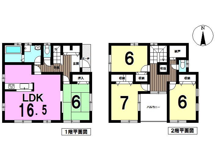 【間取り】 広いLDKが魅力です!! 広い間取りでご家族がゆったり寛げますね♪ 全居室6帖以上で収納も豊富です♪♪