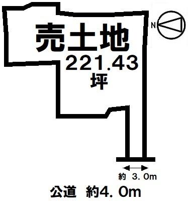 【区画図】 高さ制限10m 農地法 一種低層 住宅用地