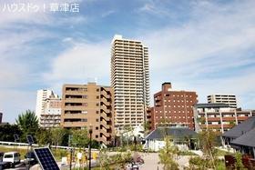 【外観写真】 32階建て・全267戸・ペット飼育可能(規約有)・オートロック・JR草津駅まで徒歩3分♪