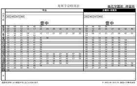 阪急豊中行バス時刻表 通勤時間帯の本数が多く便利です