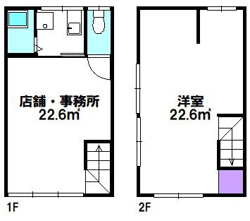 【間取り】 江戸川区松江2丁目の売店舗物件です。