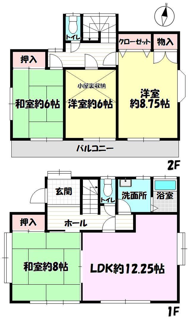 【間取り】 全居室6帖以上のゆとりの4LDK