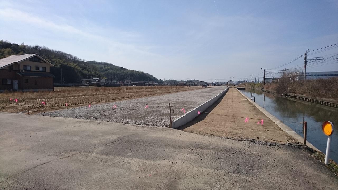 本物件北側約100mに道路が新設されます。
