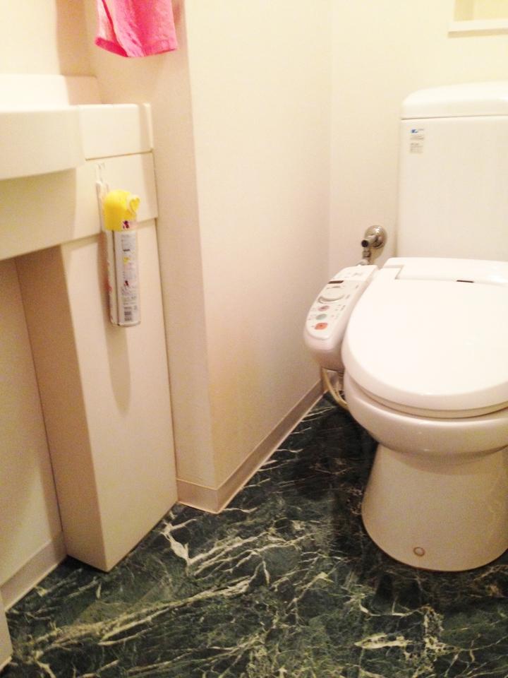 トイレには洗面付!