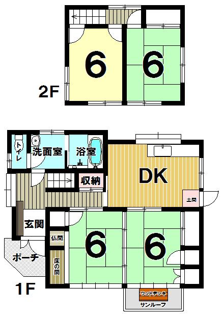 【間取り】 北九州市小倉南区上曽根新町♪2015年10月に内外装リフォーム済み♪4DK広々間取り♪