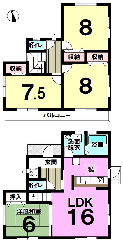 【間取り】 小倉南区中吉田5丁目・全1棟♪