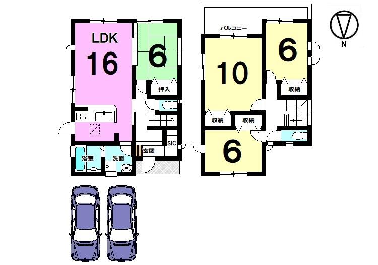 10帖洋室は是非ご覧頂きたいポイント! 主寝室にいかがでしょうか? 南向きバルコニー、全室6帖以上の広さを確保しております。