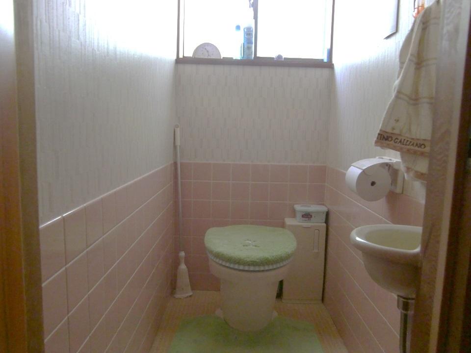 2階はトイレと壁の間にスペースがあるので、DIYで棚を作ったりしても良いですね☆