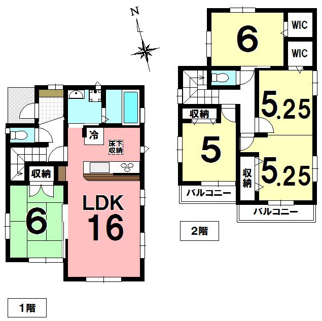 【間取り】 久喜市吉羽1丁目の新築分譲住宅です。