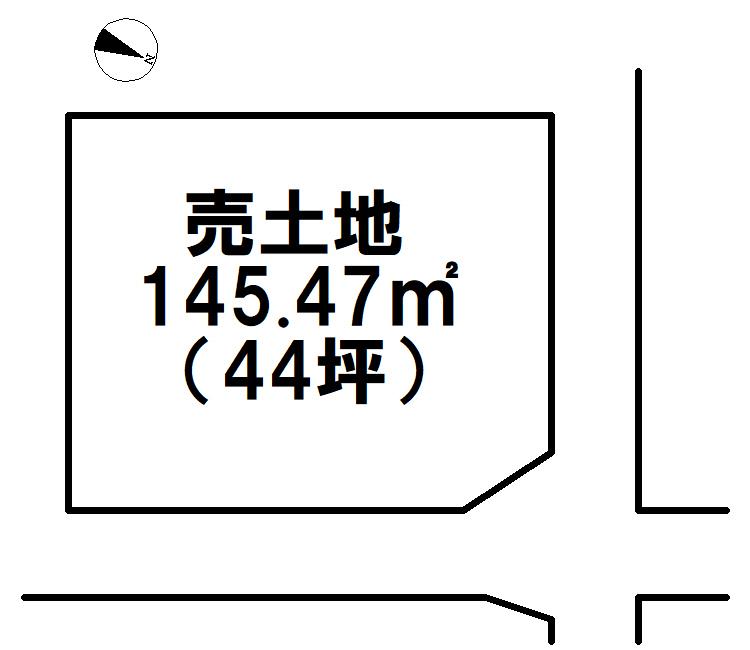 【区画図】 板櫃町土地(1号地)