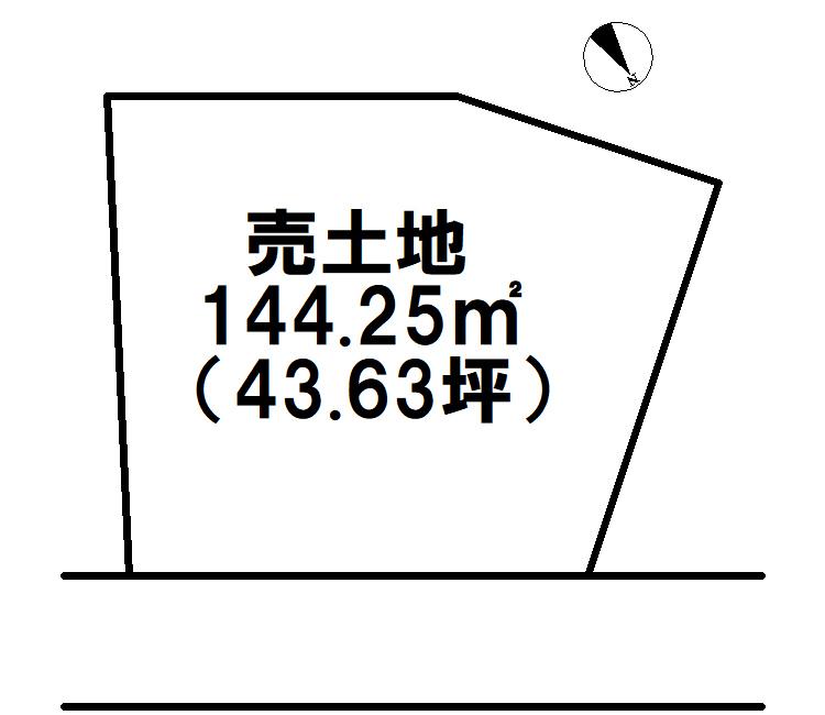 【区画図】 板櫃町土地(2号地)