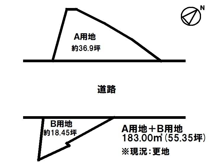 【区画図】 JR南草津駅徒歩12分・分家住宅のみ建築可・更地・フレンドマート南草津店まで徒歩5分(約340m)