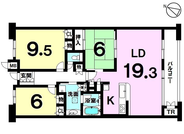【間取り】 常滑市 北条1丁目。 3LDK!全居室に収納あります。