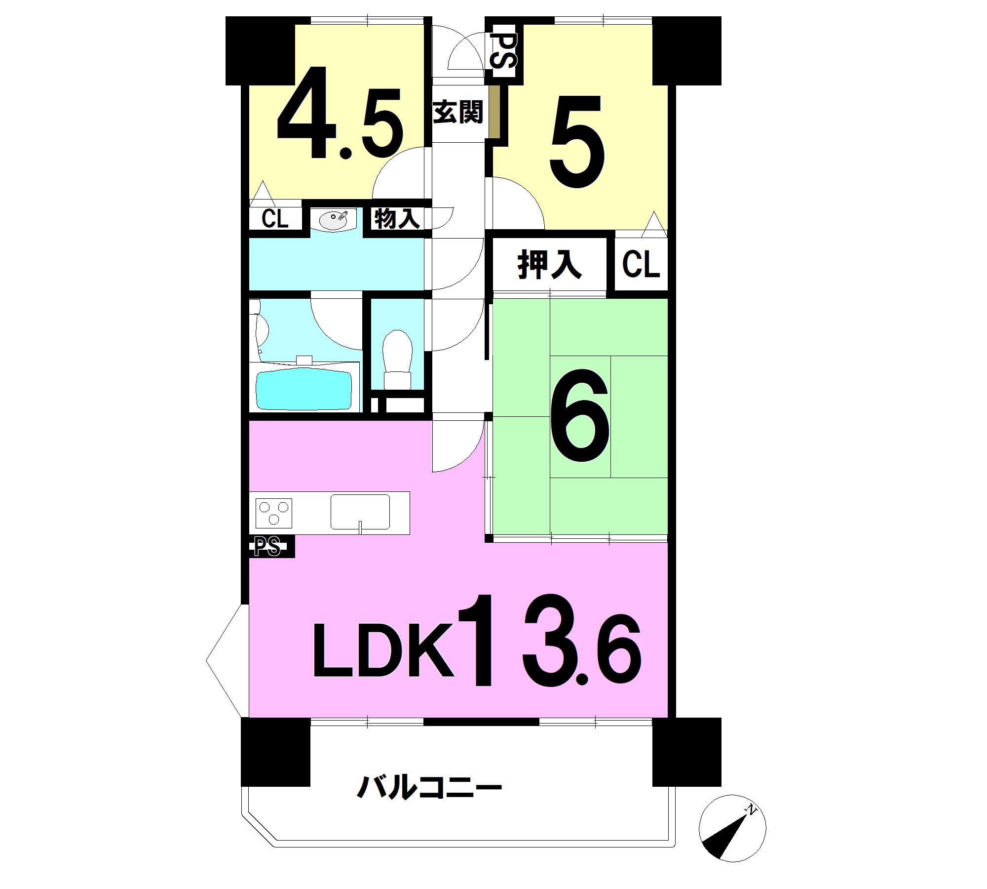 【間取り】 13.6LDK 6和 5洋 4.6洋