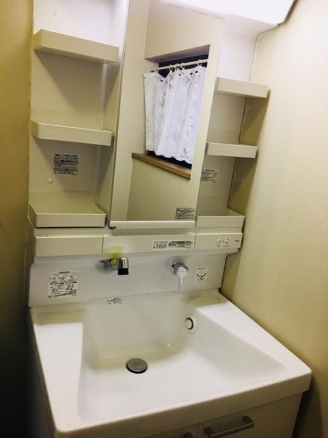 忙しい朝に嬉しいシャワー付洗面台!