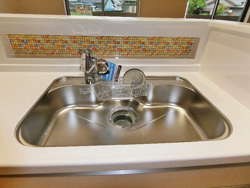 浄水器一体型シンクです。
