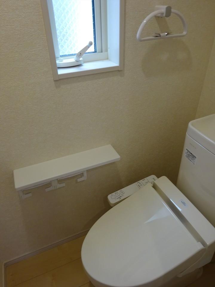 機能的で清潔感のあるトイレです