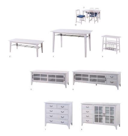 【家具】 白い家具シリーズ♪ これだけで姫部屋の完成ですね♪ 清潔感パーフェクトです♪