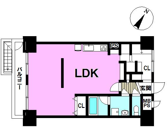 【間取り】 オシャレリノベーション1ルーム物件!驚きの玄関収納とともに、オシャレなあなたの特別な暮らしに彩を与えるオシャレ家具、一緒にご提案致します!