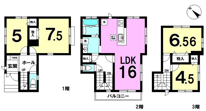 【間取り】 江戸川区南小岩1丁目新築戸建 11期全8棟