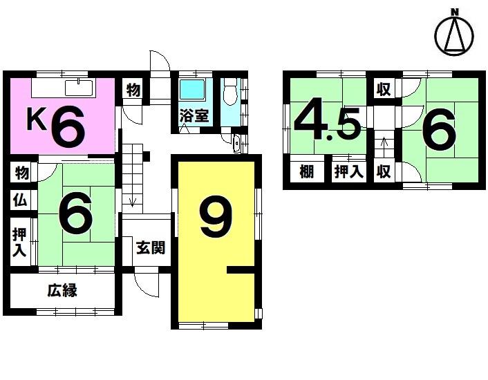 【間取り】 ・5DK ・駐車1台可能