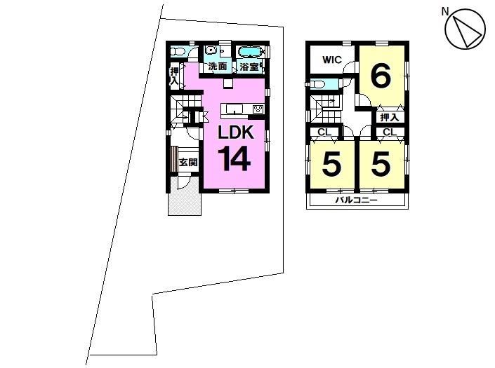 【間取り】 新築戸建 知多市新舞子字廻間 土地面積 48.61坪 建物面積 26.55坪