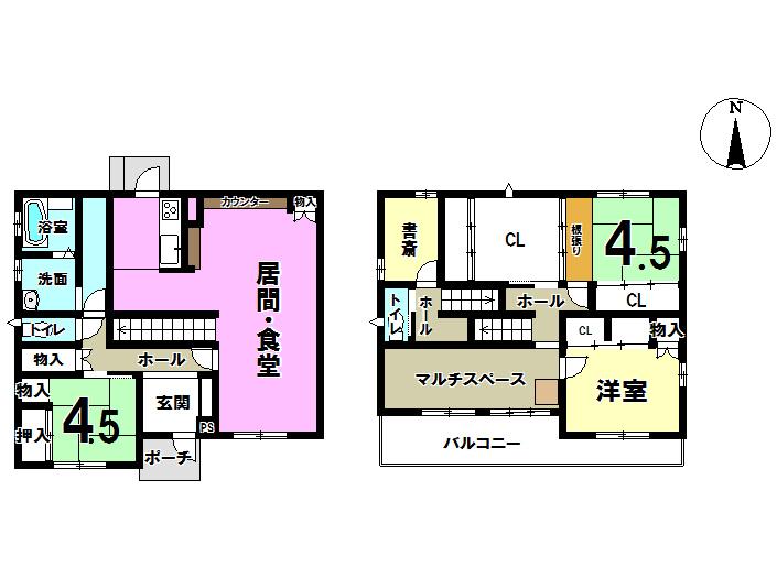 【間取り】 2011年(平成23年)3月築! 土地面積:168.8㎡ 建物面積:124.62㎡ 駐車場3台可能ですよ♪