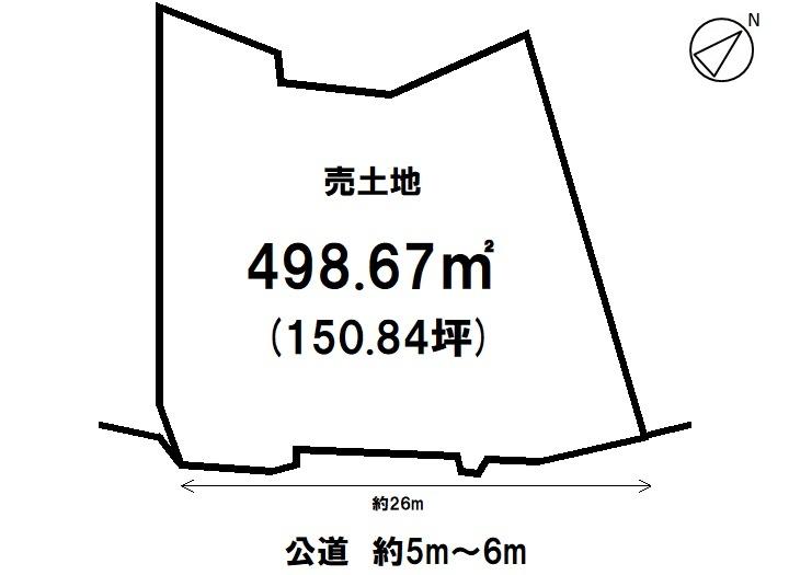 【区画図】 【 売土地 】  土地面積  151,64 坪