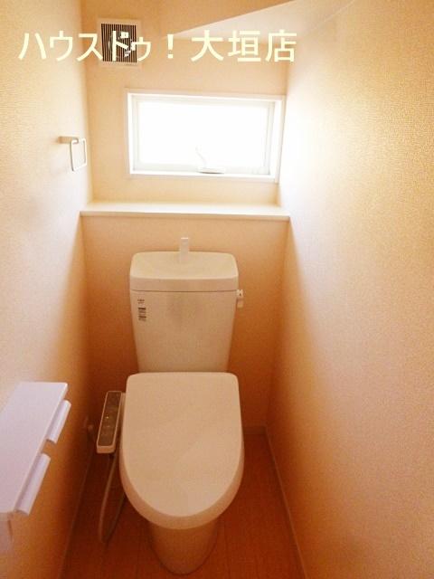 スッキリとしたトイレ。