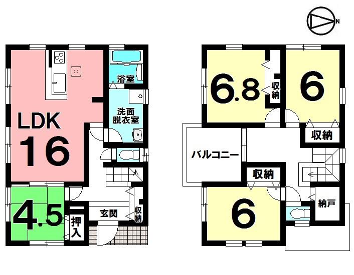 【間取り】 ・4LDK+納戸 ・駐車3台可能