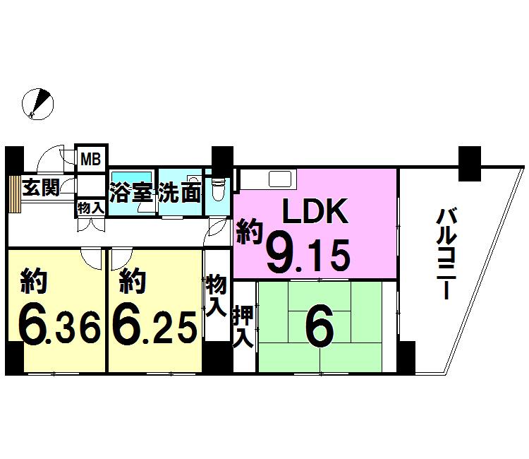 【間取り】 コープ野村香春口・トリオビル